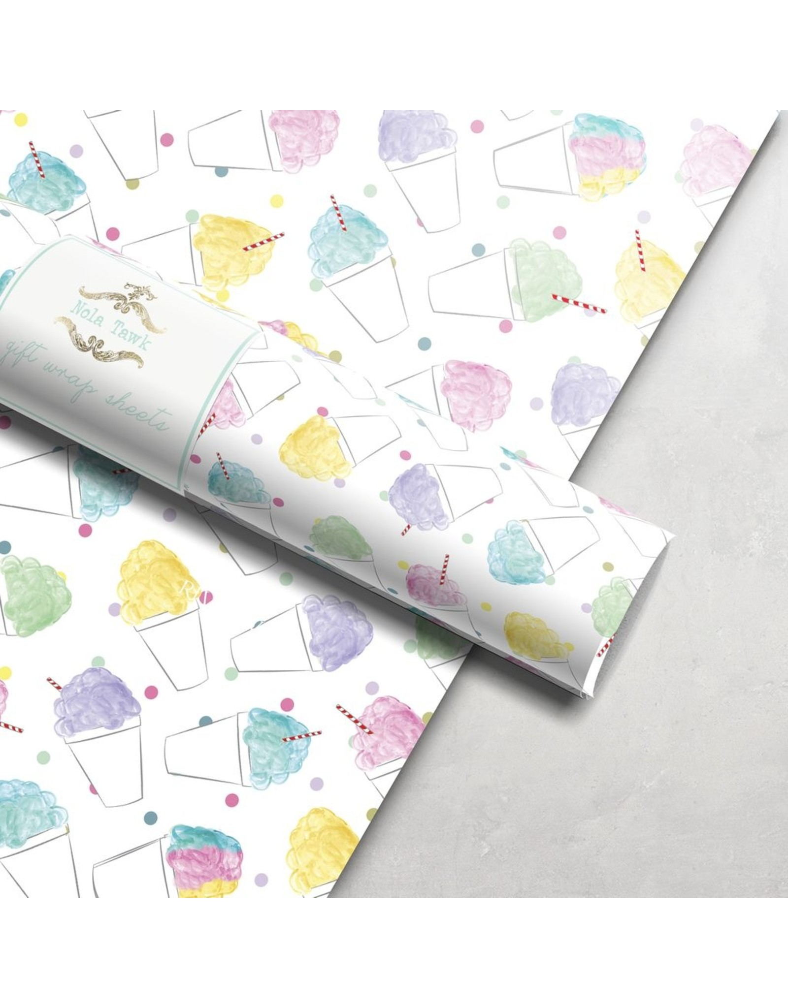 Nola Tawk Snoball Wrapping Paper