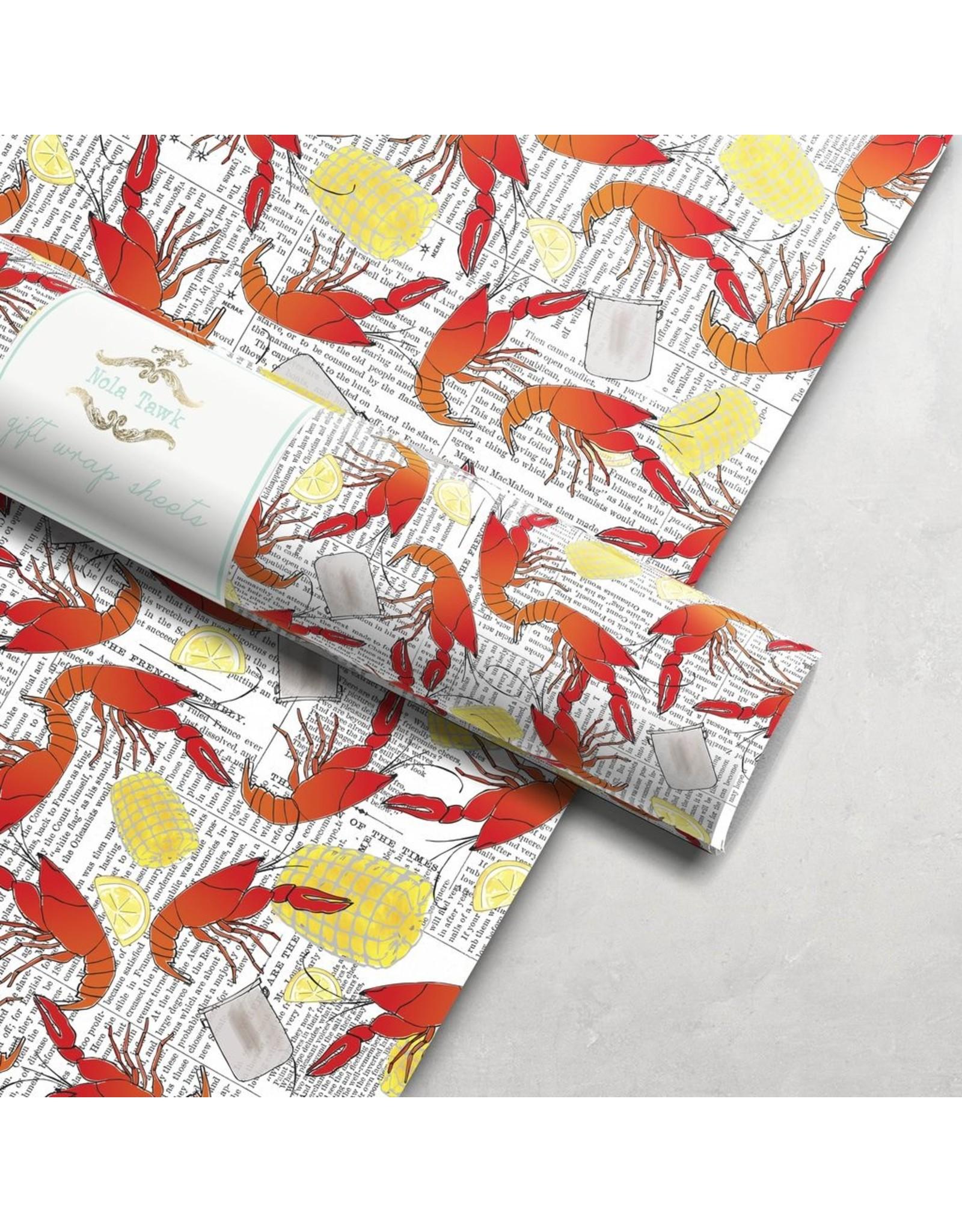 Nola Tawk Crawfish Boil Wrapping Paper