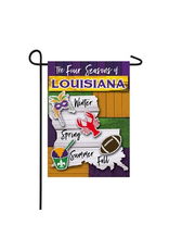 Evergreen Enterprises Four Seasons of Louisiana Garden Suede Flag
