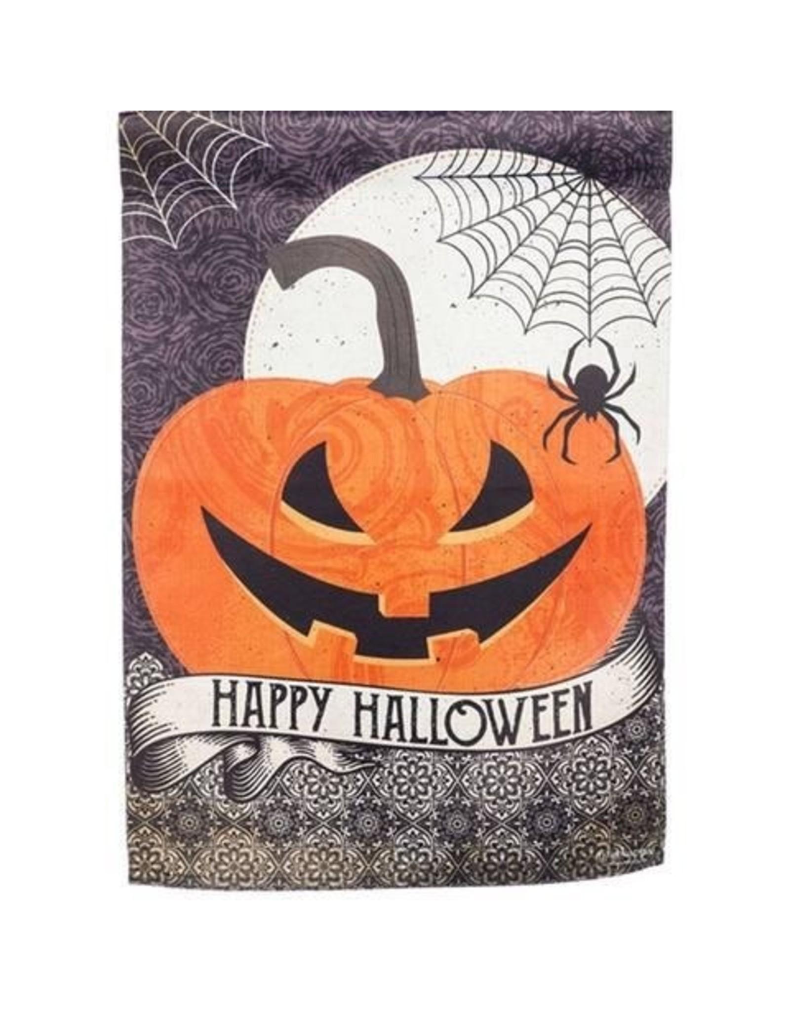 Evergreen Enterprises Happy Halloween House Suede Flag