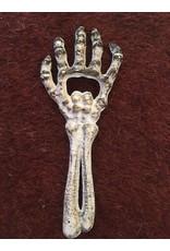 Evergreen Enterprises Cast Iron Skeleton Hand Bottle Opener