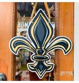 Home Malone Saints Fleur De Lis Door Hanger