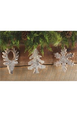 Mudpie Tree Birch Glitter Ornament
