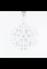 Adams & Co. Wood Orn (SNOWFLAKE), White