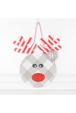 Adams & Co. Wood Shape (Rudolph), Red/White/Gray/Black