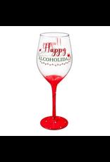 Evergreen Enterprises Happy Alcoholiday, Wine Glass w/ box