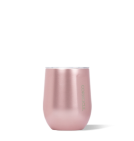 Corkcicle Stemless - 12 oz Rose Metallic