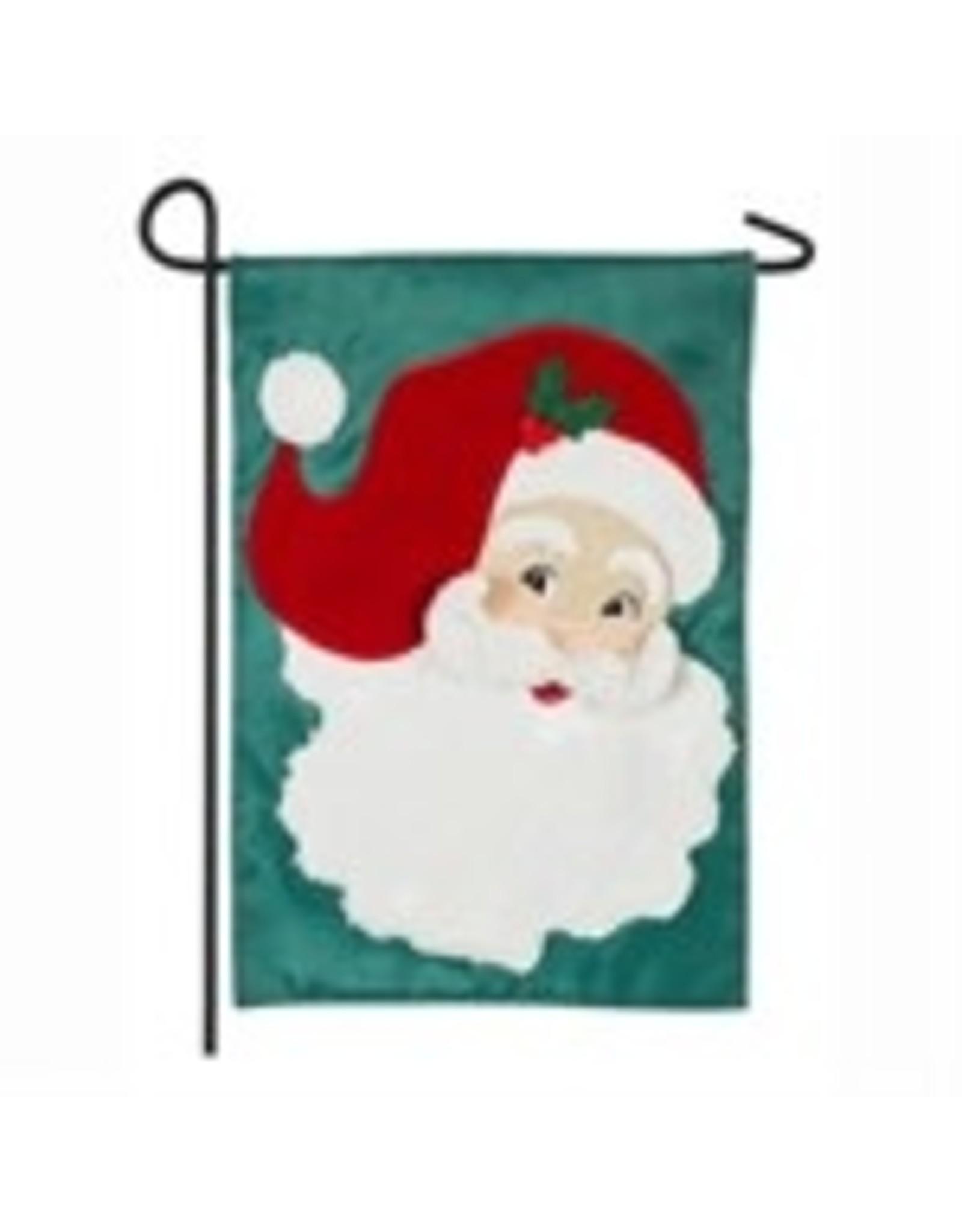 Evergreen Enterprises Jolly St. Nick Garden Flag