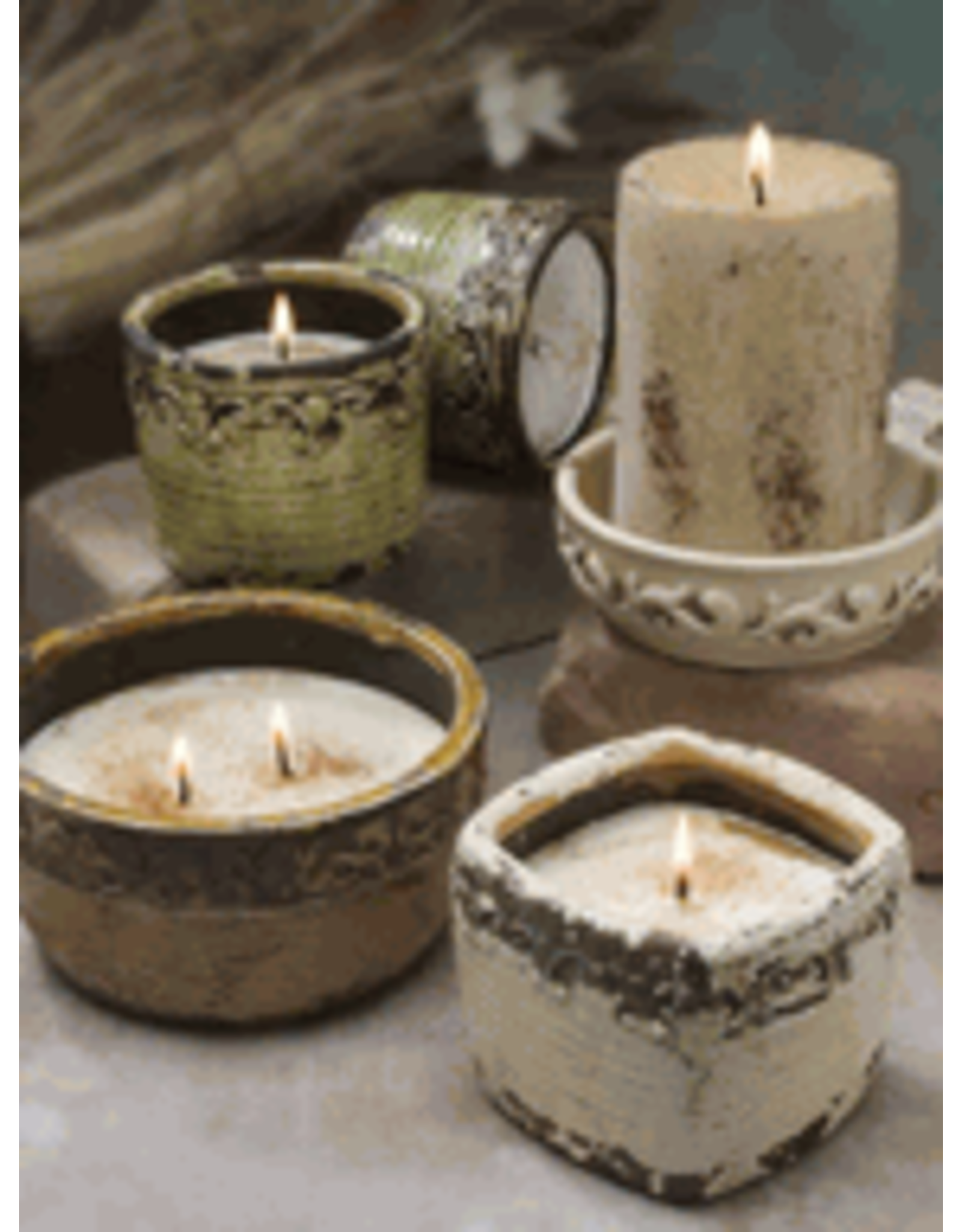 Swan Creek Candles Vintage Sq Pot Warm Cinnamon Buns