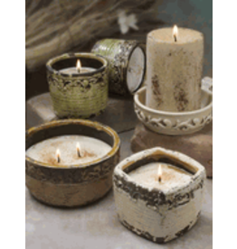 Swan Creek Candles VIintage Square Pot Pumpkin Vanilla