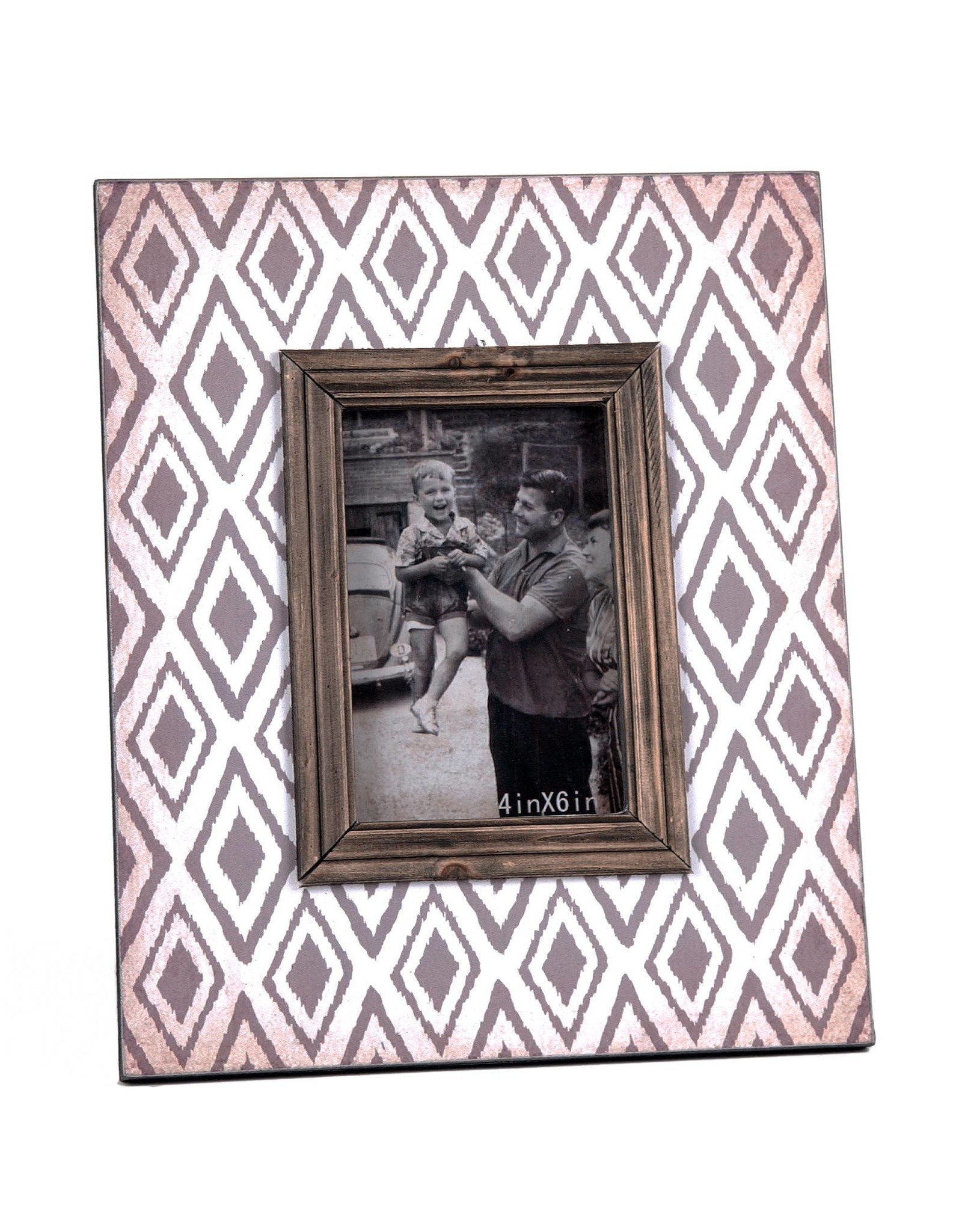 "Wilco Home Inc. 4"" x 6"" Wood Photo Frame - Tan"