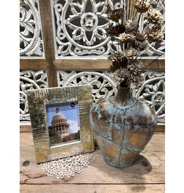 """Wilco Home Inc. 5""""x7"""" Silver & Gold Washed Reclaimed Wood Frame"""