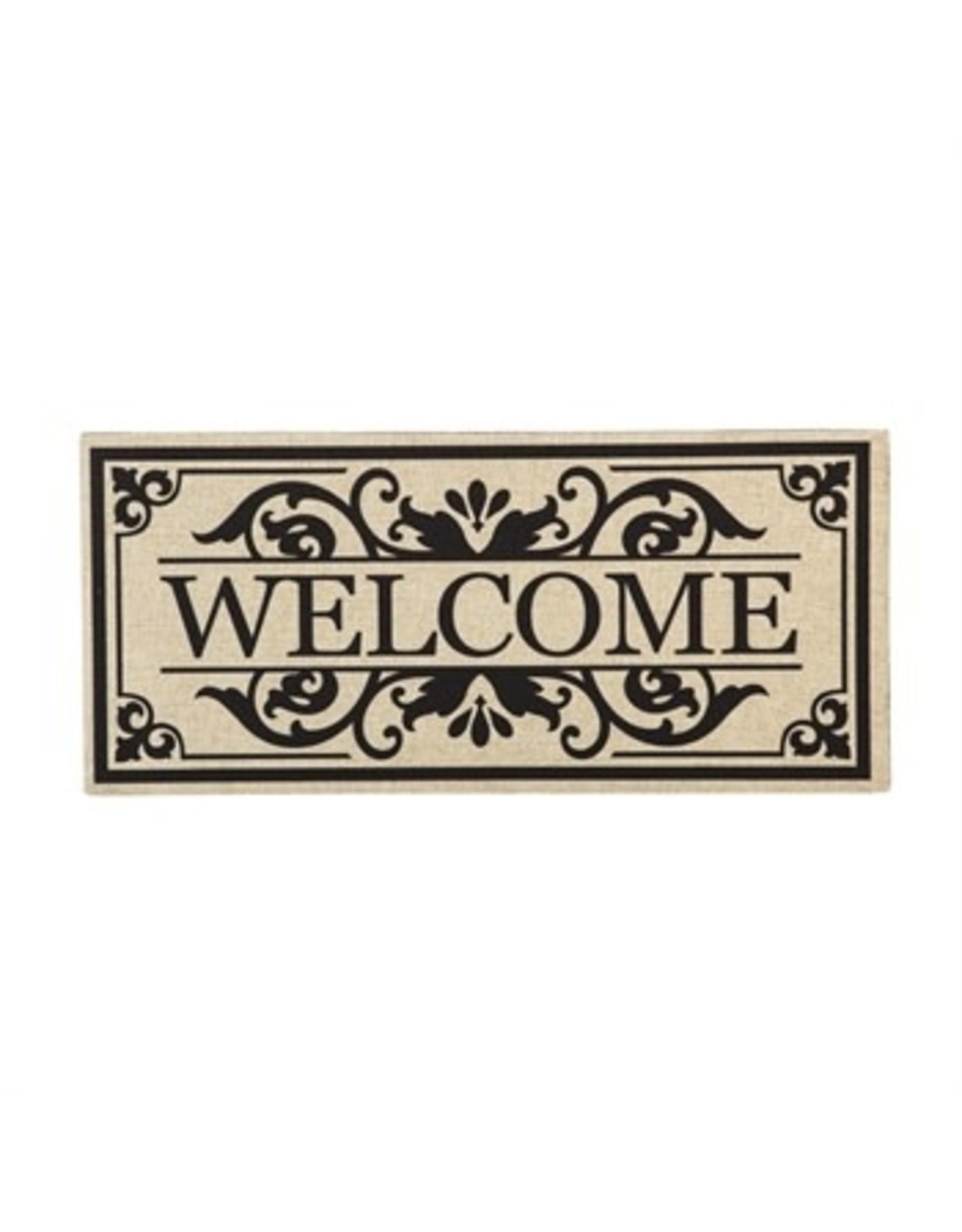 Evergreen Enterprises Cambridge Welcome Burlap Sassafras Switch Mat