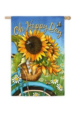 Evergreen Enterprises Happy Day Sunflowers House Suede Flag
