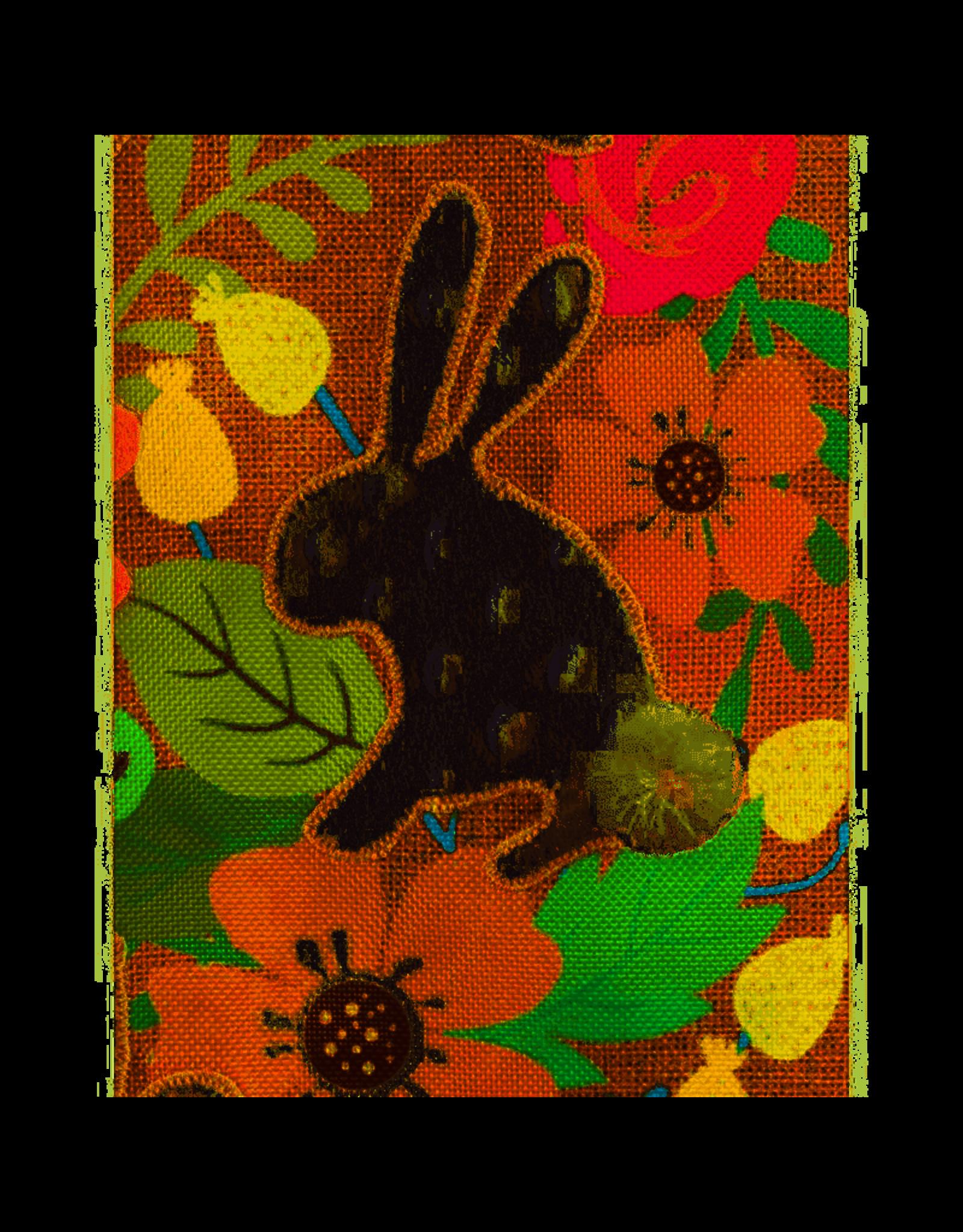 Evergreen Enterprises Spring Bunnies Garden Burlap Flag