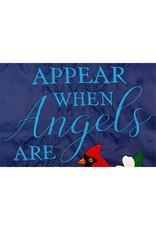 Evergreen Enterprises Angels Are Near Applique House Flag