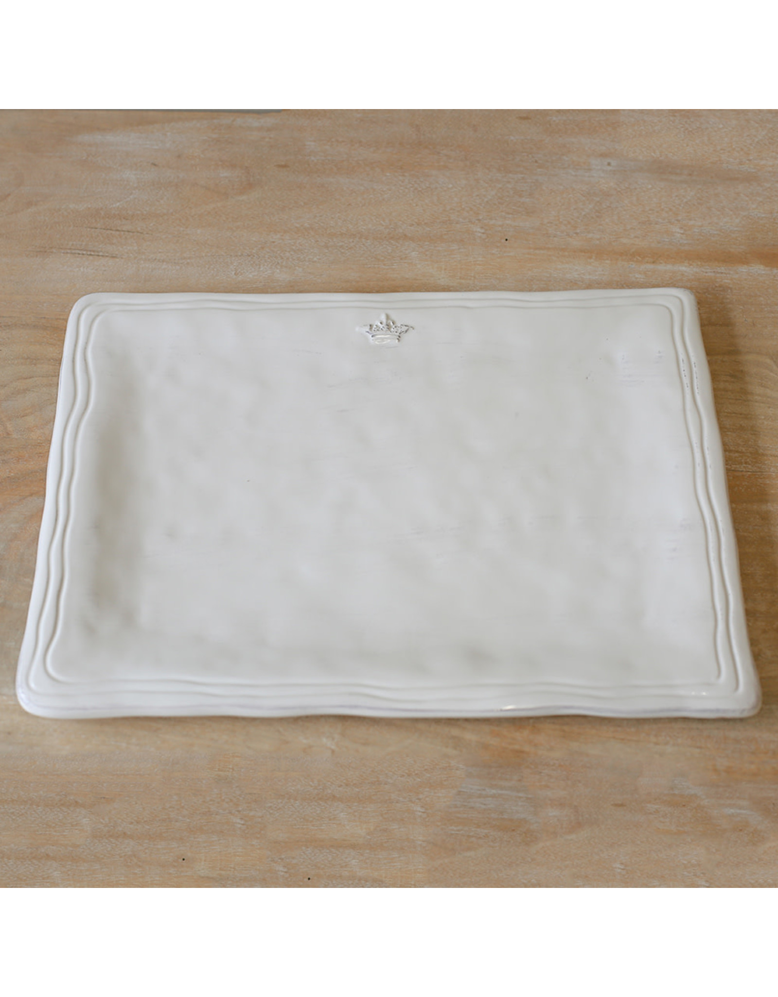 The Royal Standard Antique White Crown Platter, 15.5 x 11