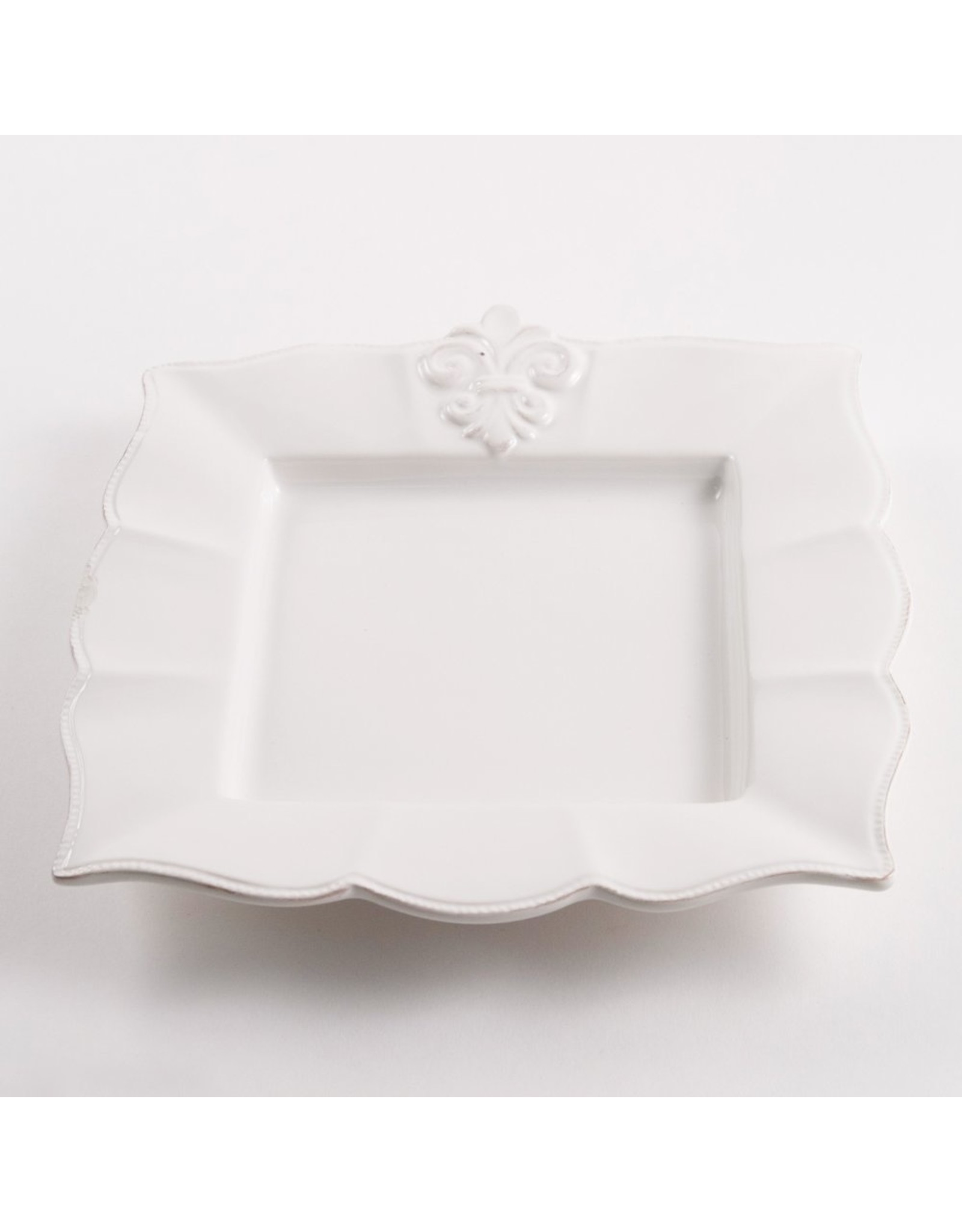 The Royal Standard FDL Square Plate, Antique White