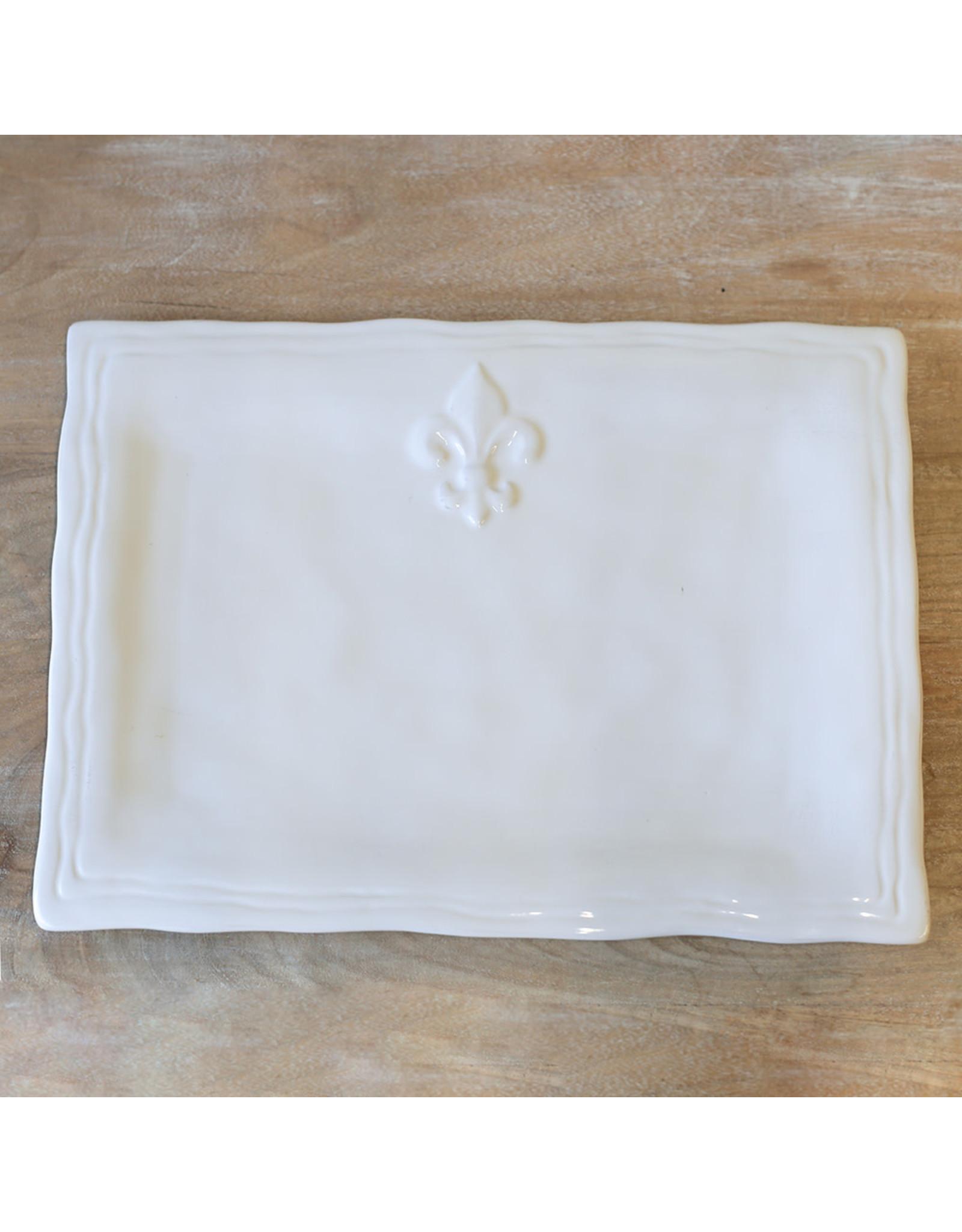 The Royal Standard FDL Platter-Antique White 15.5x11.5