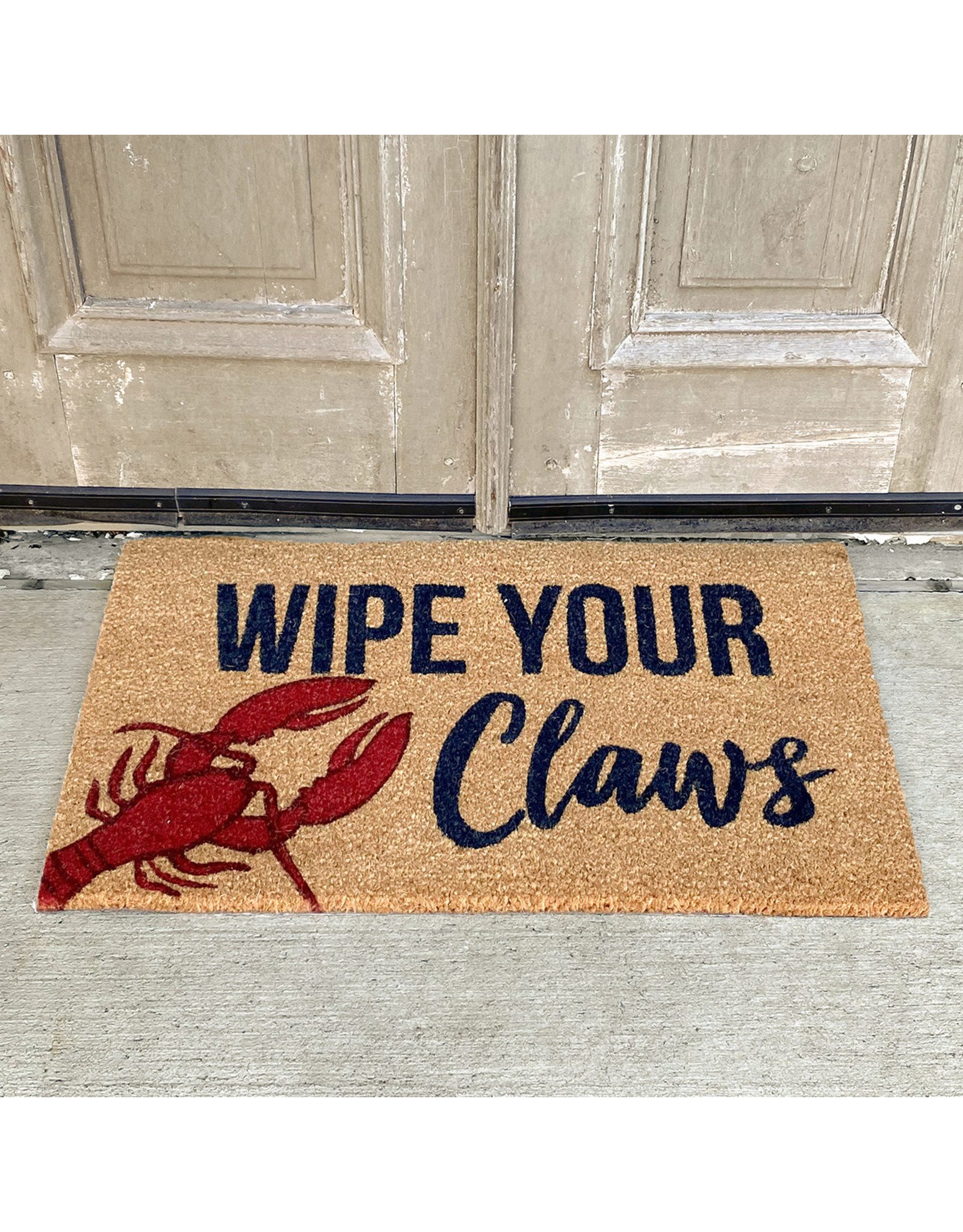 The Royal Standard Wipe Your Claws Coir Doormat