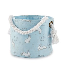 Mudpie Blue My First Easter Basket Set