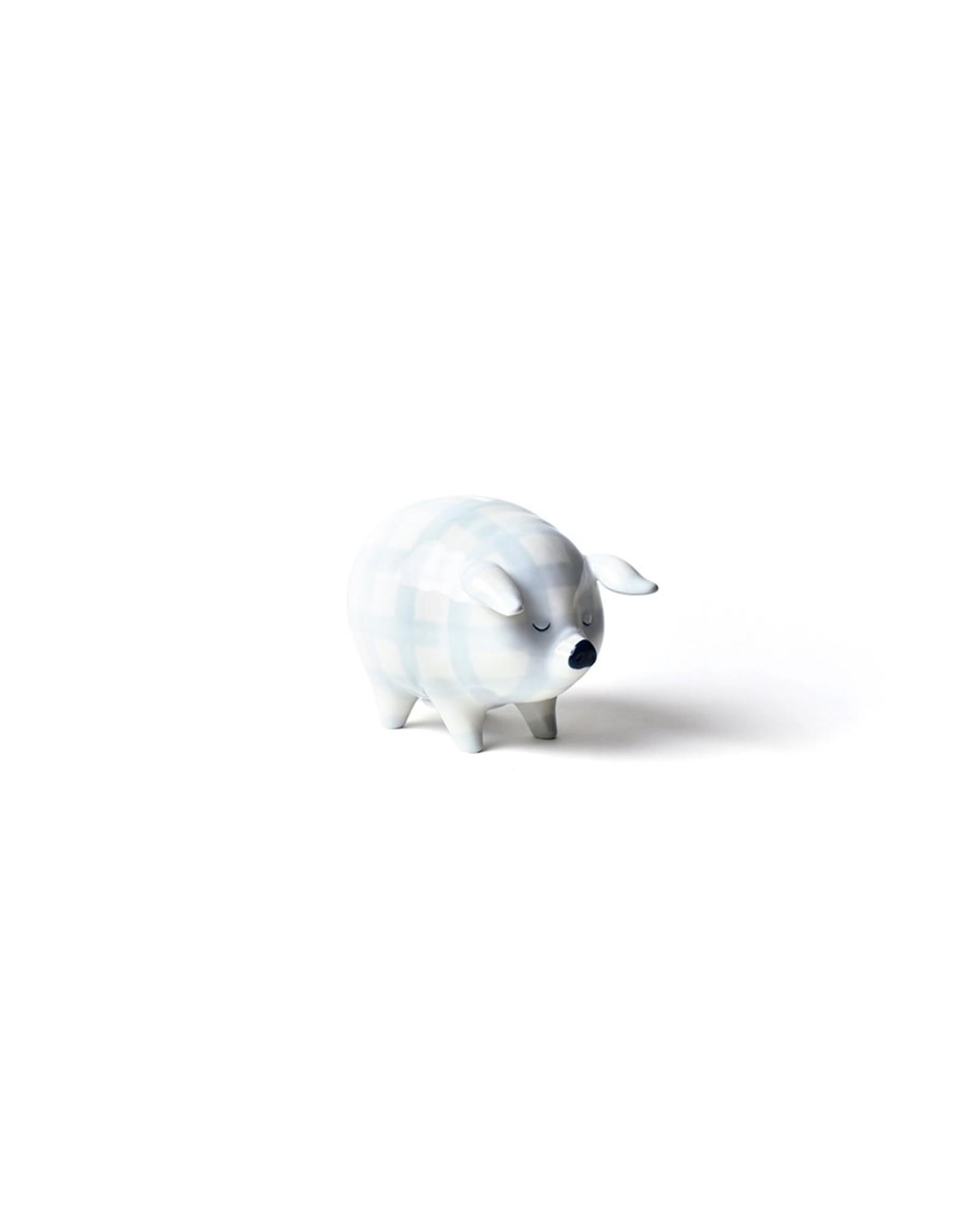 Coton Colors Blue Gingham Piggy Bank