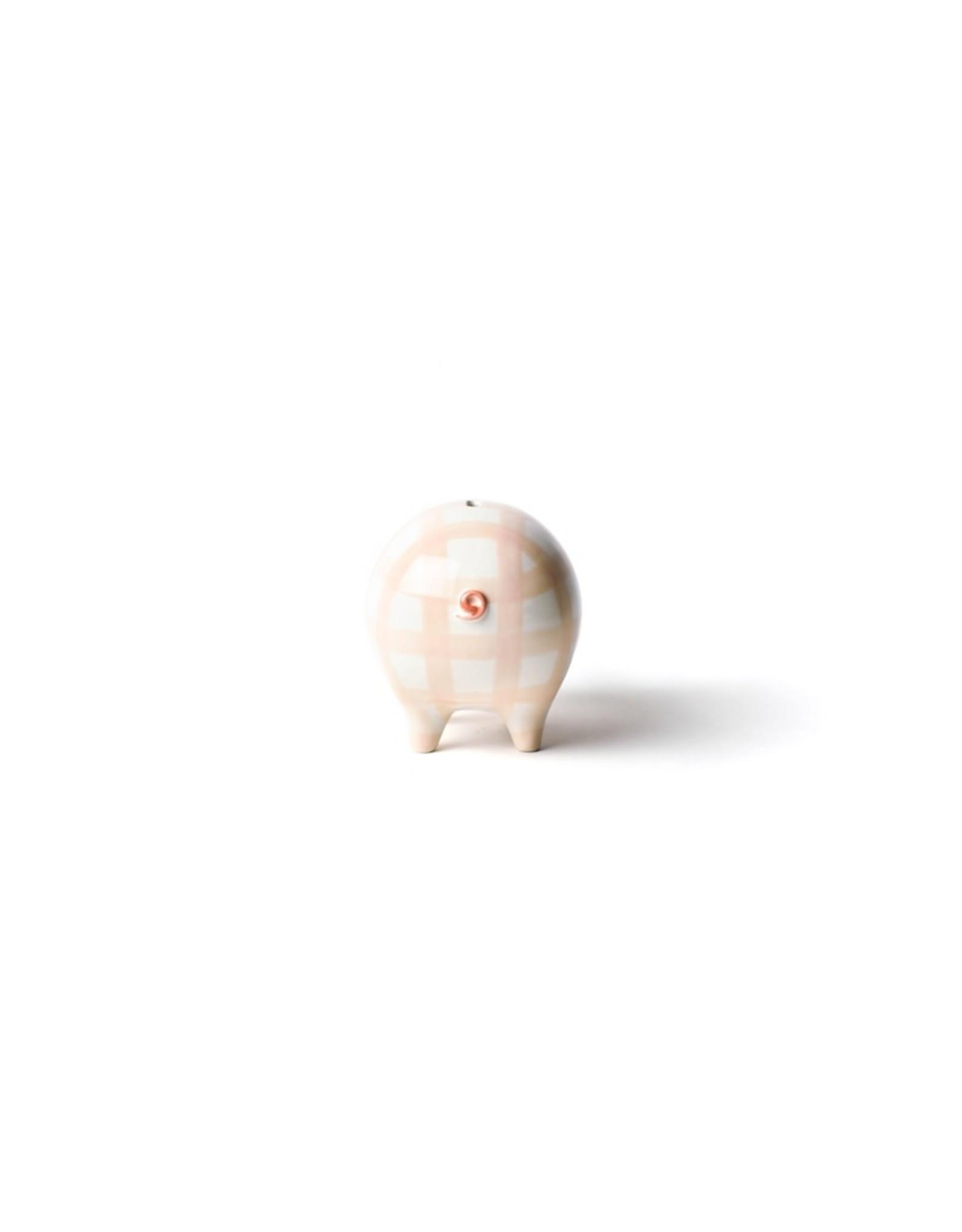 Coton Colors Pink Gingham Piggy Bank