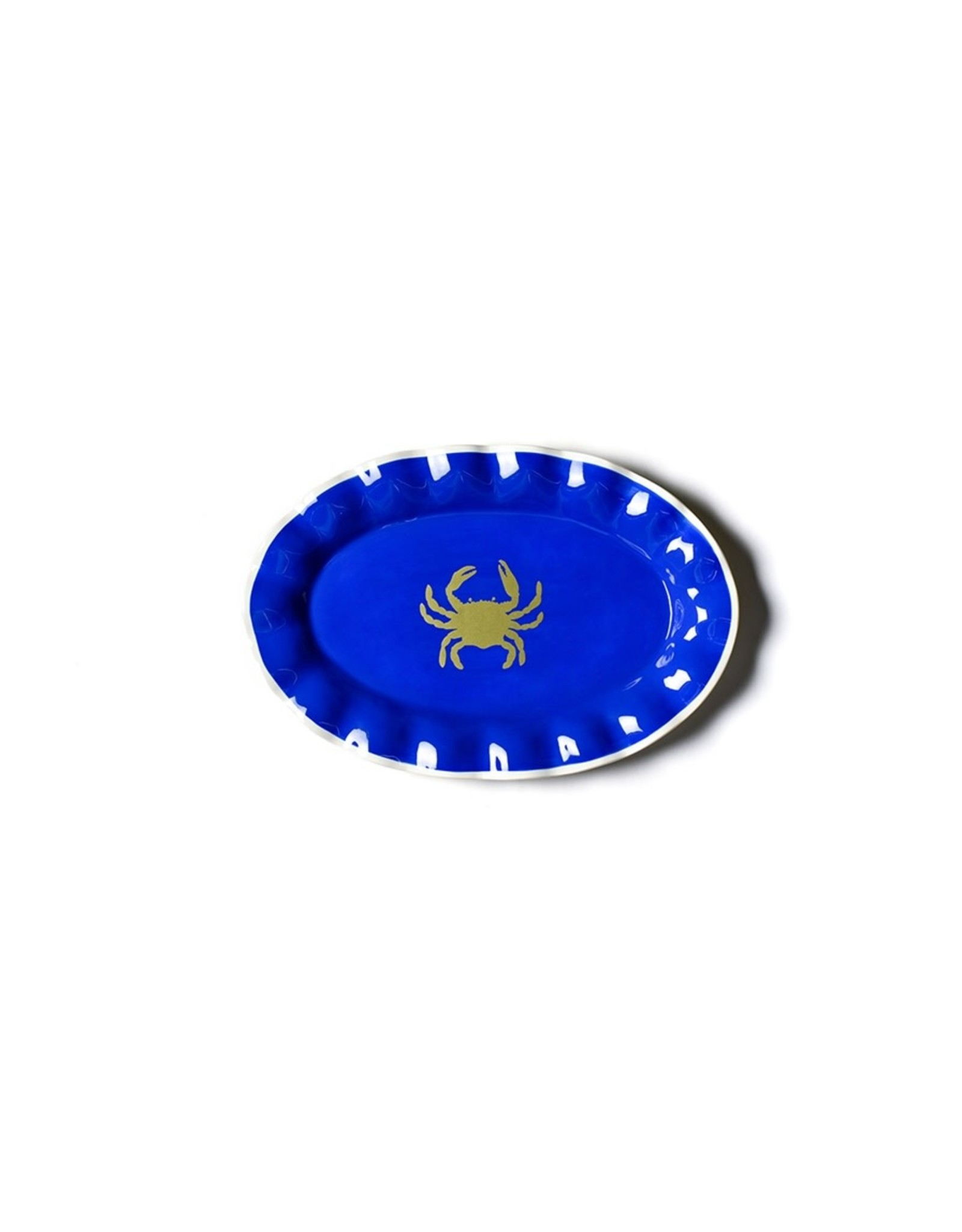 Coton Colors Crab Oval Ruffle Platter
