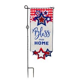 Evergreen Enterprises Americana Bless Our Home Everlasting Impressions Textile Décor