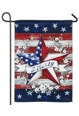 Evergreen Enterprises Liberty Star Garden Flag-Suede