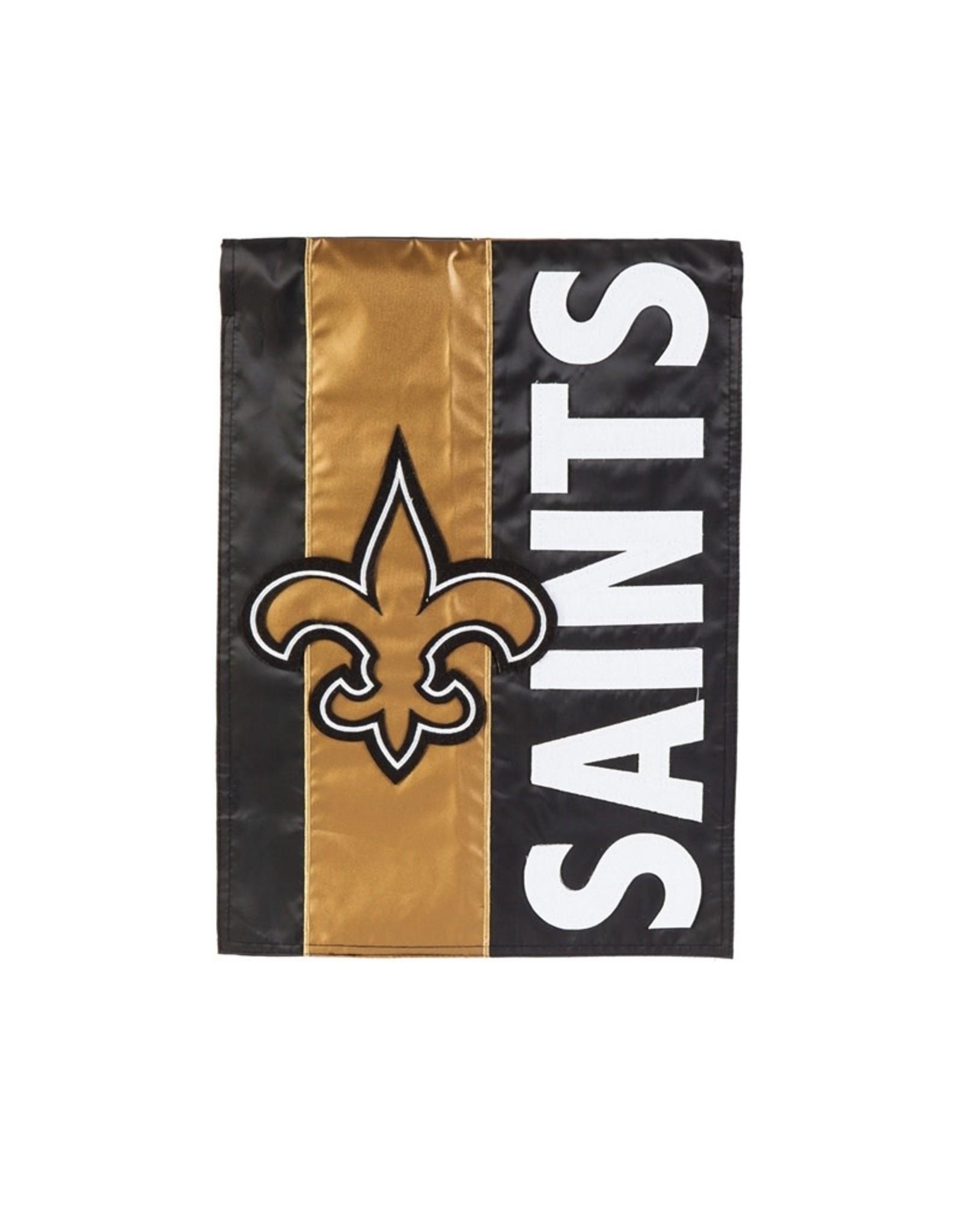 Evergreen Enterprises New Orleans Saints Embellish Garden Flag
