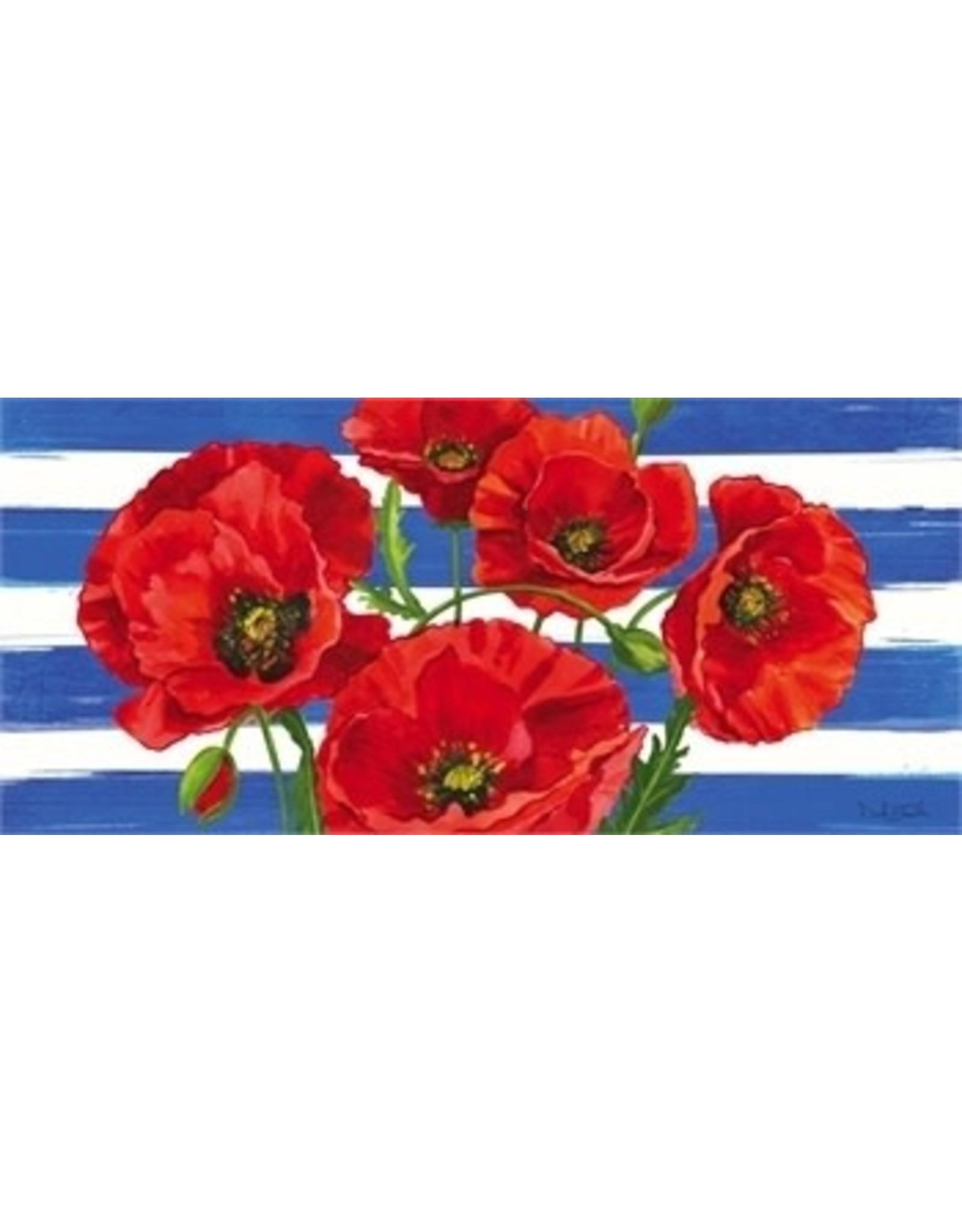 Evergreen Enterprises Poppies & Stripes Sassafras Switch Mat