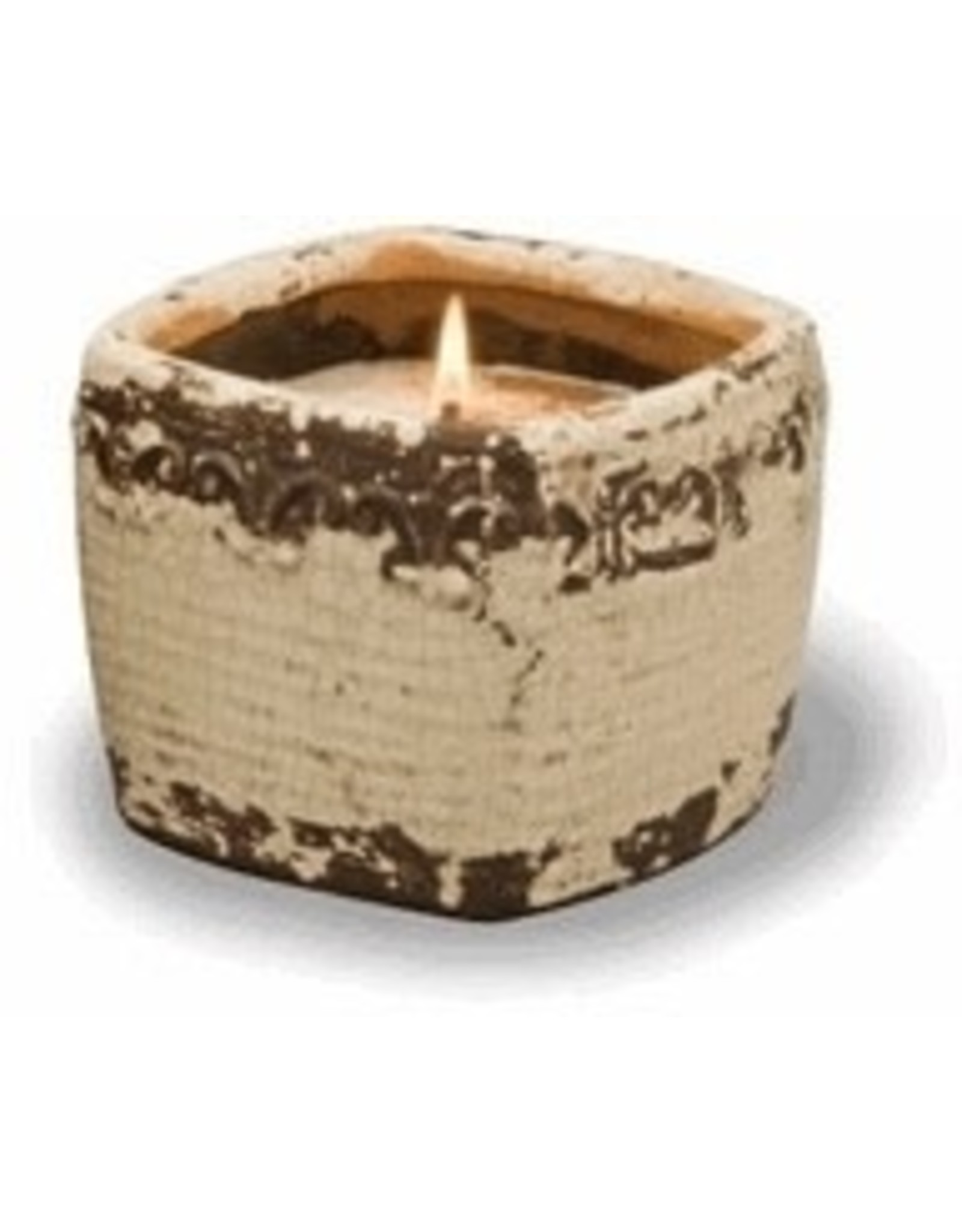Swan Creek Candles Vintage Sq Pot Spiced Orange & Cinnamon