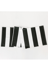 """Adams & Co. 15"""" x 65"""" Table Runner (STRIPES), White and Black"""