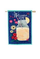 Evergreen Enterprises Welcome Home House Linen Flag