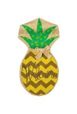 Evergreen Enterprises Burlap Polka Dot Pineapple House Flag
