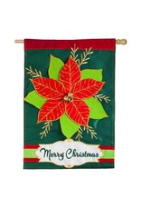 Evergreen Enterprises Christmas Poinsetta Regular Flag