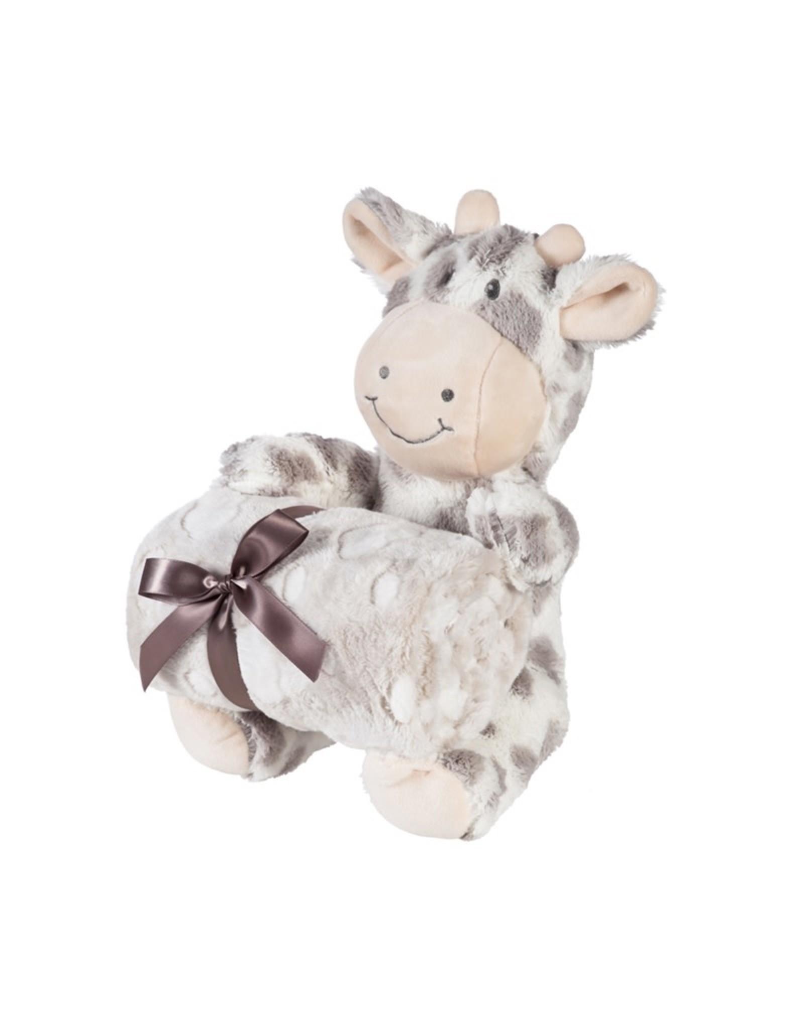 "Evergreen Enterprises Cuddly Giraffe 10""  Stuffed Animal w/Blanket, Gray"