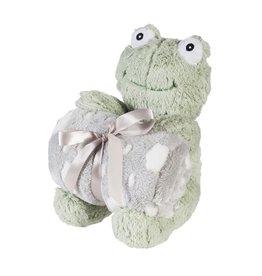 "Evergreen Enterprises Cuddly Frog 10"" Stuffed Animal w/ Blanket, Green"
