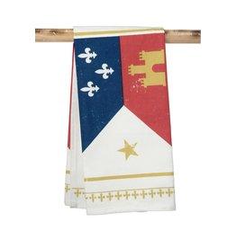 The Parish Line Acadiana Flag Kitchen Towel