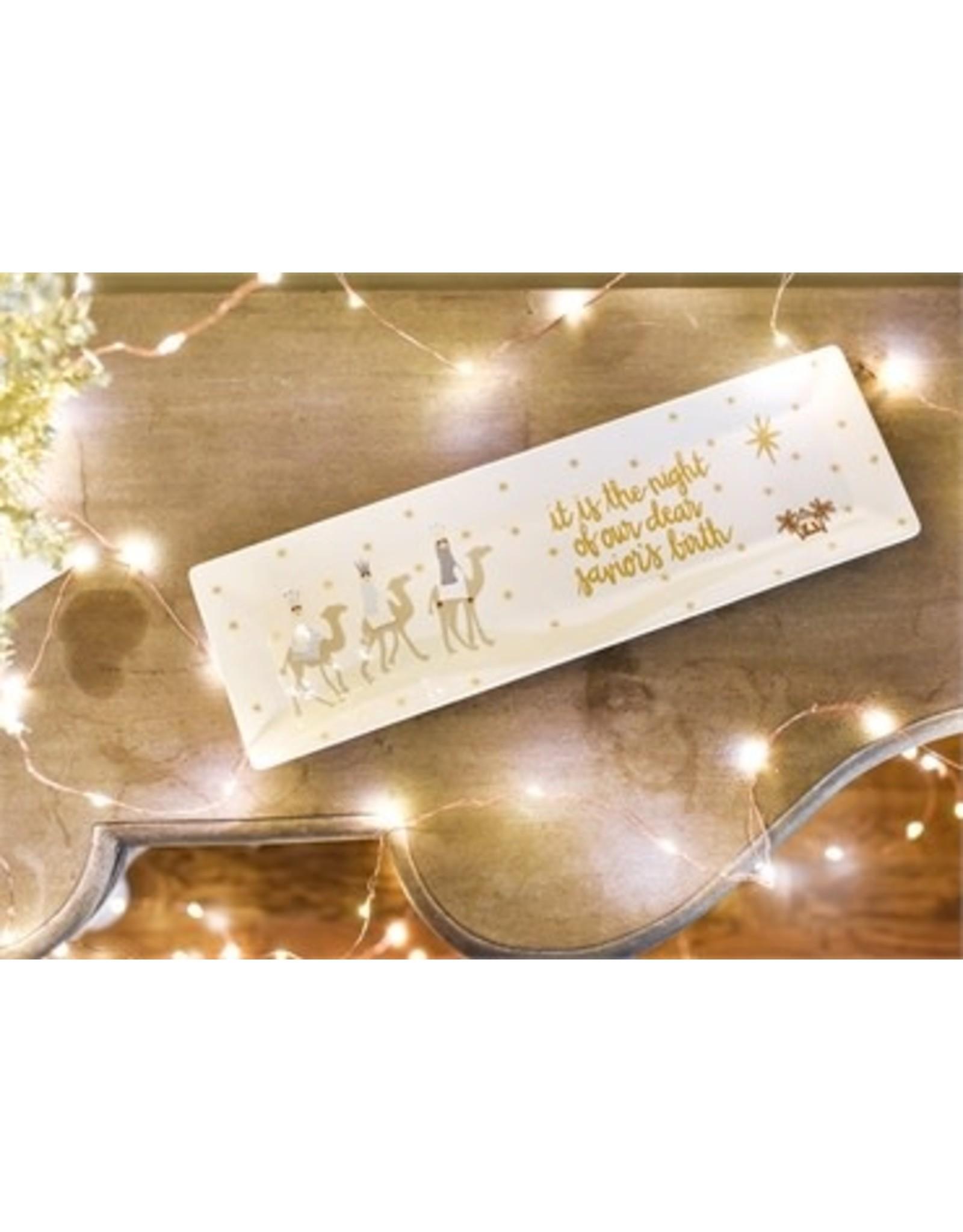 Coton Colors Neutral Nativity Rectangle Tray