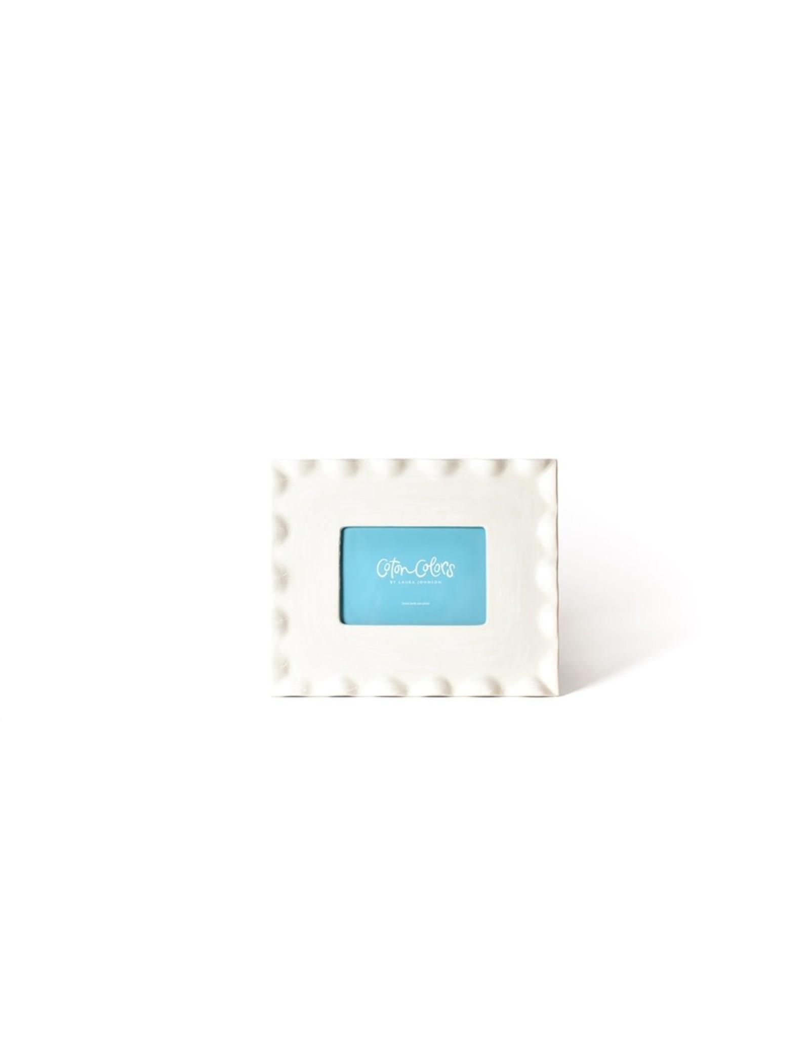 Coton Colors Signature White Ruffle Frame