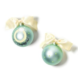 Coton Colors Just Engaged Glass Ornaments