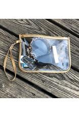 The Royal Standard Alma Clear Wristlet-Gold
