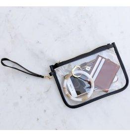 The Royal Standard Alma Clear Wristlet-Black