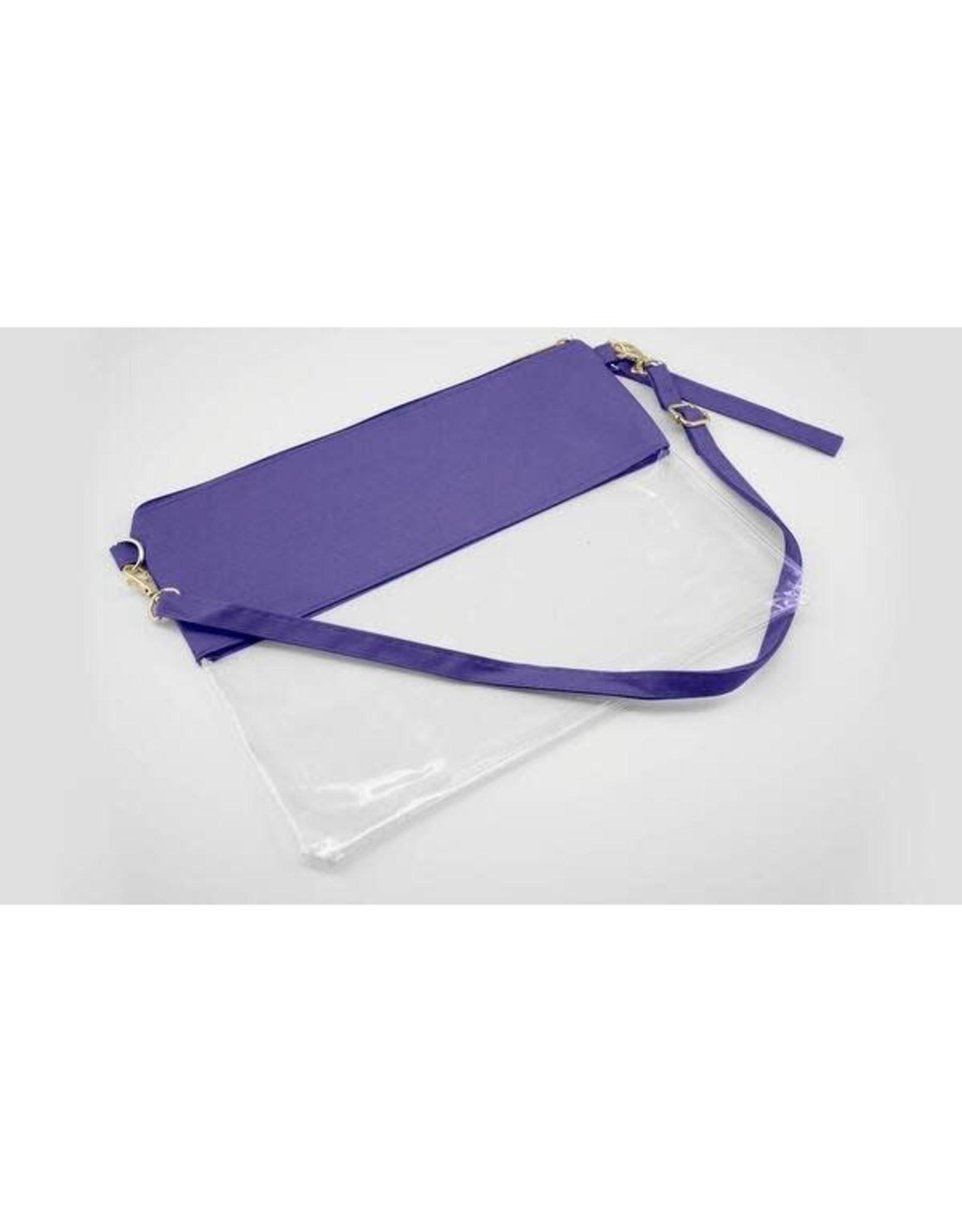 Wholesale Boutique Purple Clear Purse