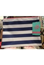 Wholesale Boutique Prep Stripe Zip Pouch