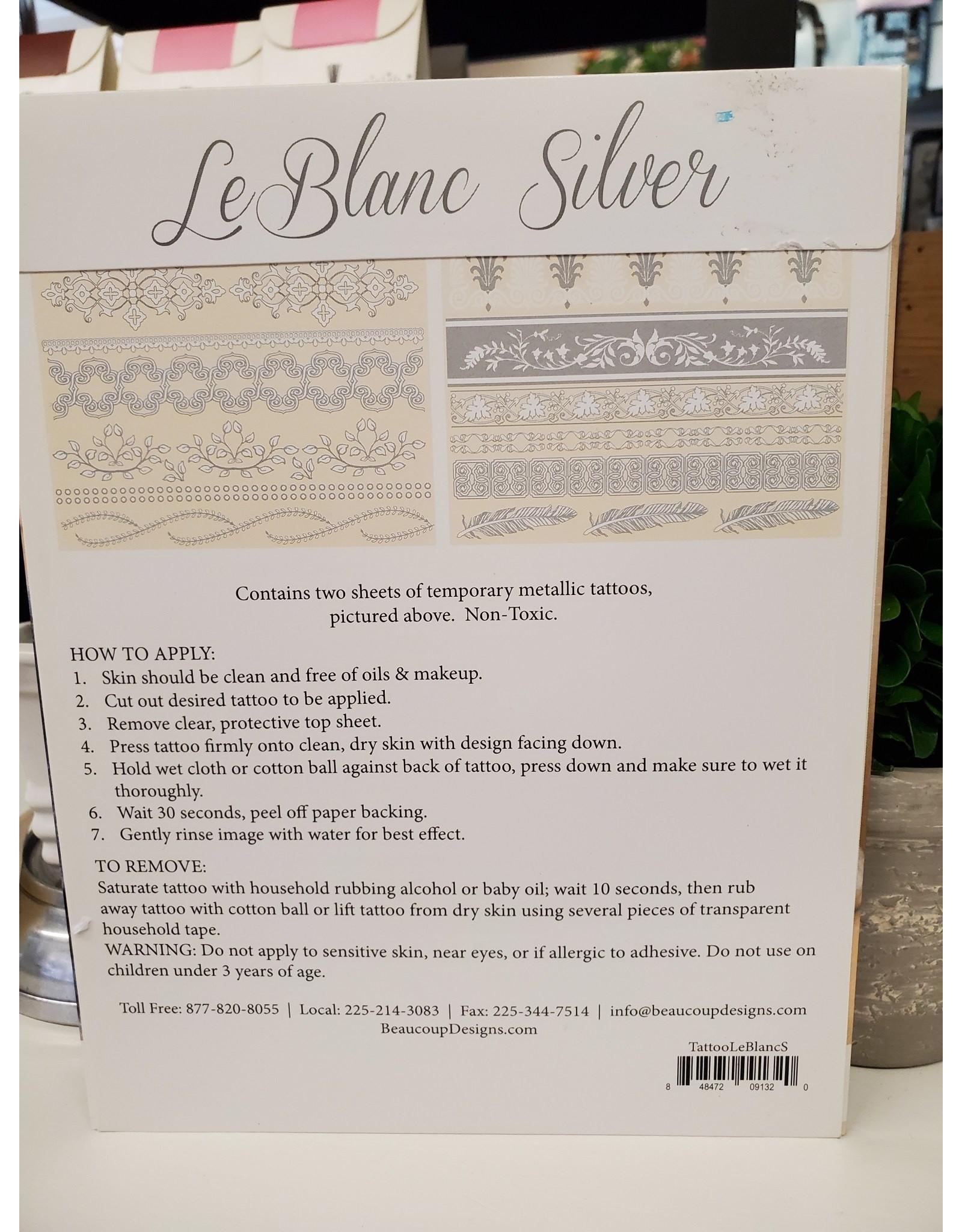 Beaucoup Designs Tattoo LeBlanc Silver