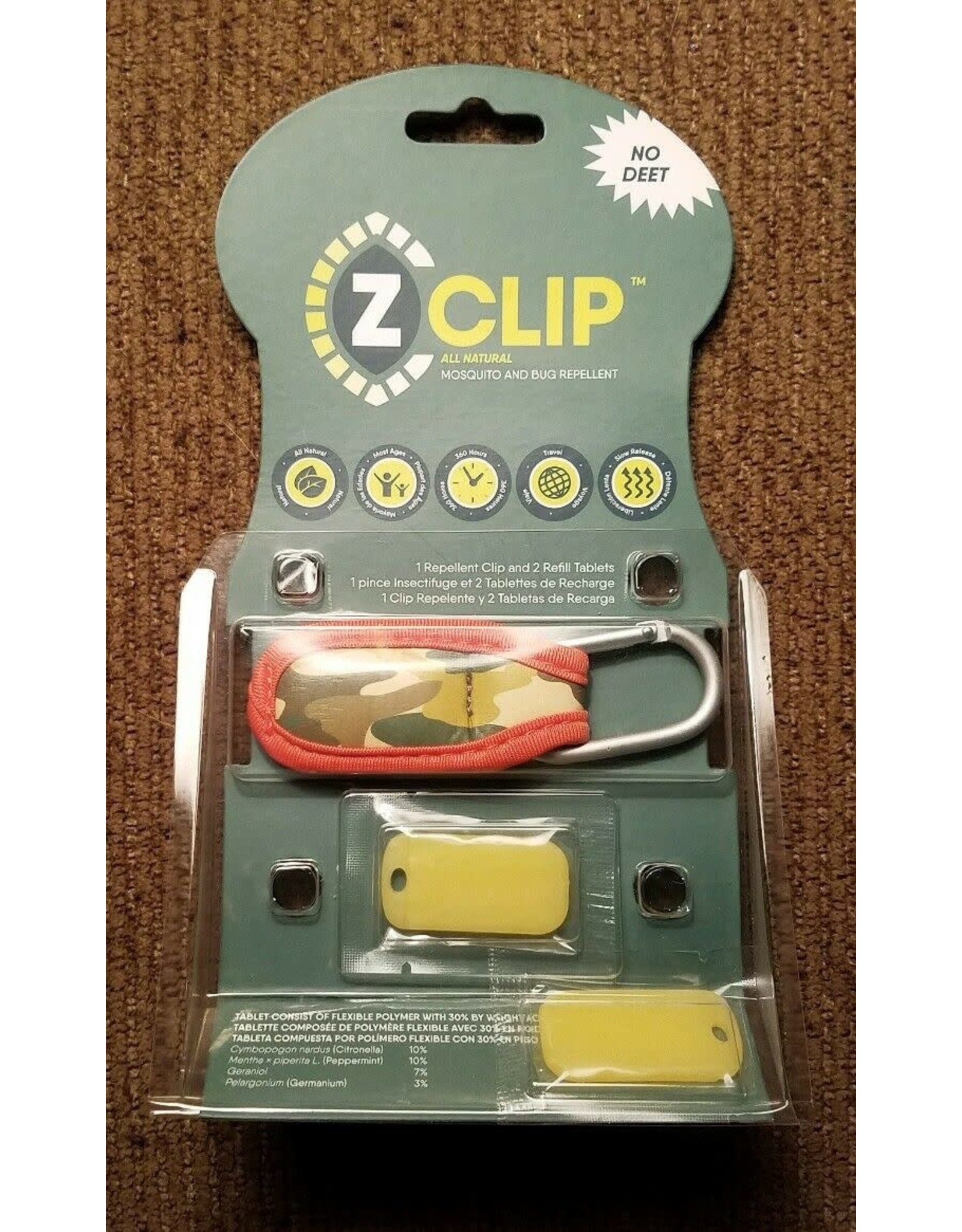 Evergreen Enterprises Z-Fence Natural Mosquito Repellent Clip w/ 2 Refills