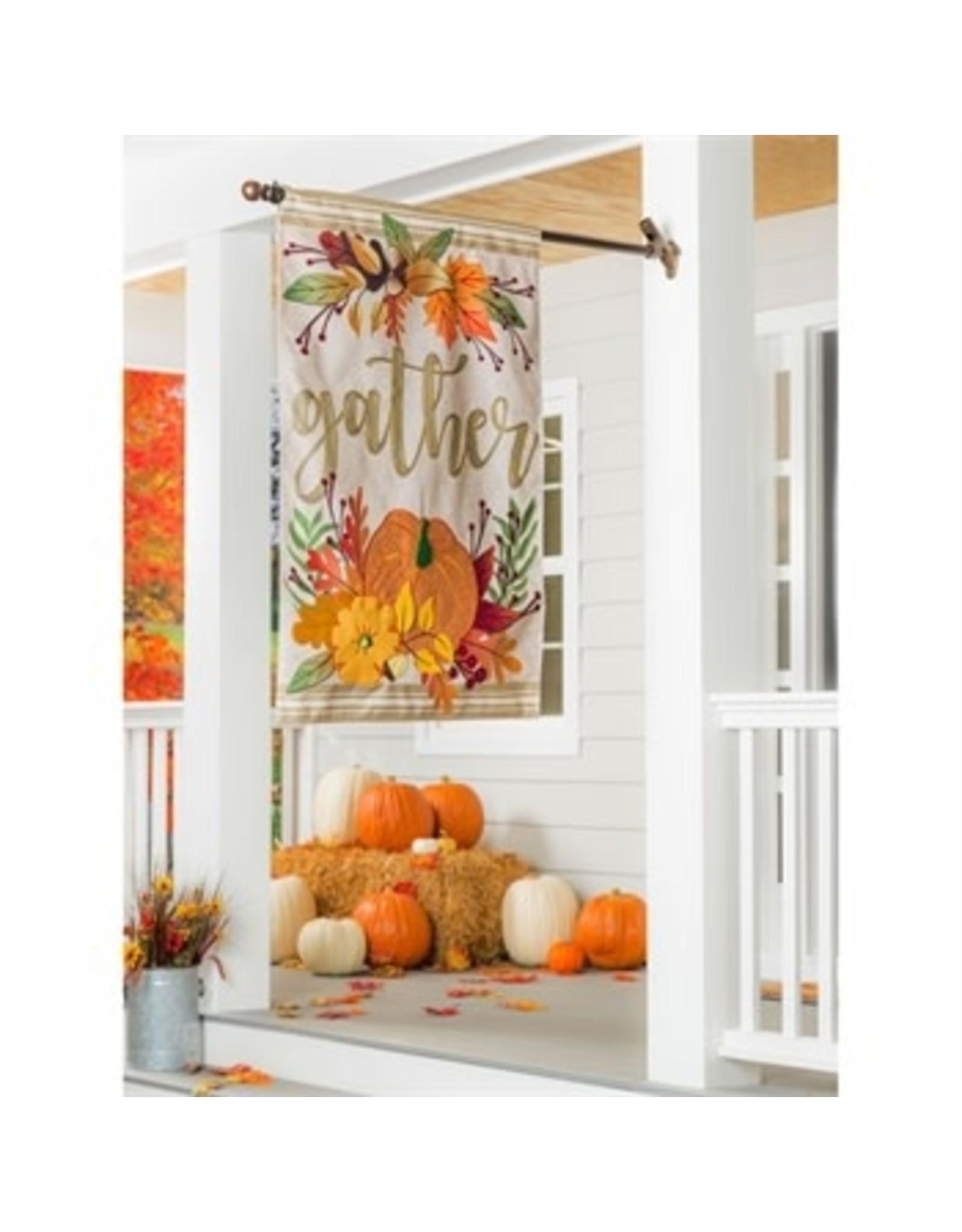 Evergreen Enterprises Autumn Gather House Burlap Flag